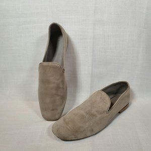 Vince nude soft leather loafers slides shoe